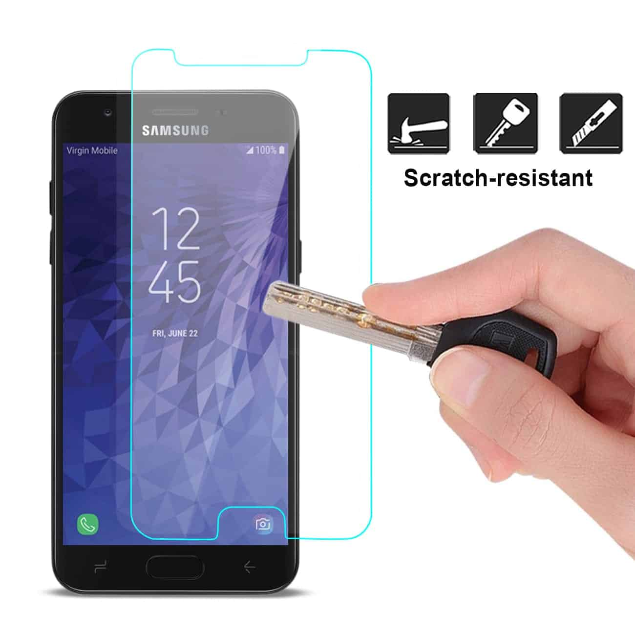 SAMSUNG GALAXY J7 (2018) Lite Tempered Glass Screen Protector In Clear