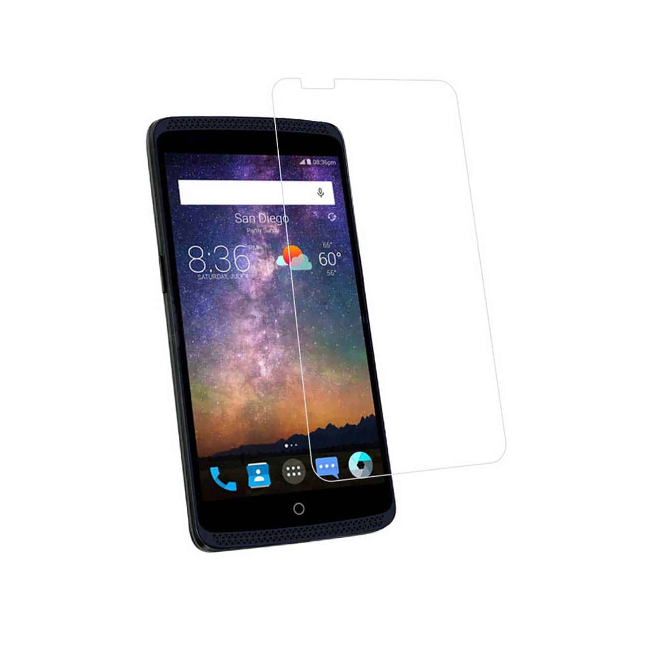ZTE AXON PRO TEMPERED GLASS SCREEN PROTECTOR IN CLEAR