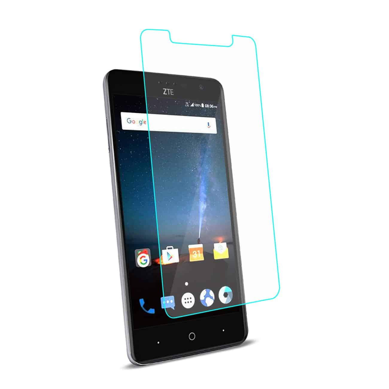 ZTE Blade Z MAX/Z982/ZTE Sequoia TEMPERED GLASS SCREEN PROTECTOR IN CLEAR