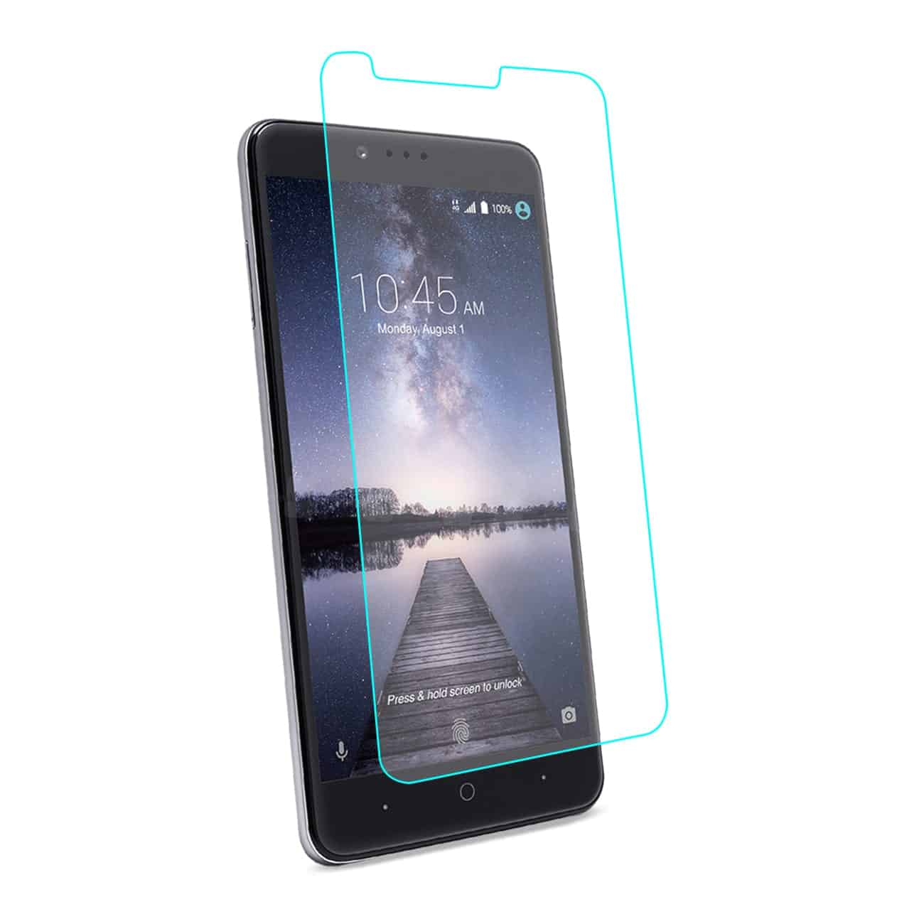 ZTE ZMAX PRO/ Z981 TEMPERED GLASS SCREEN PROTECTOR IN CLEAR