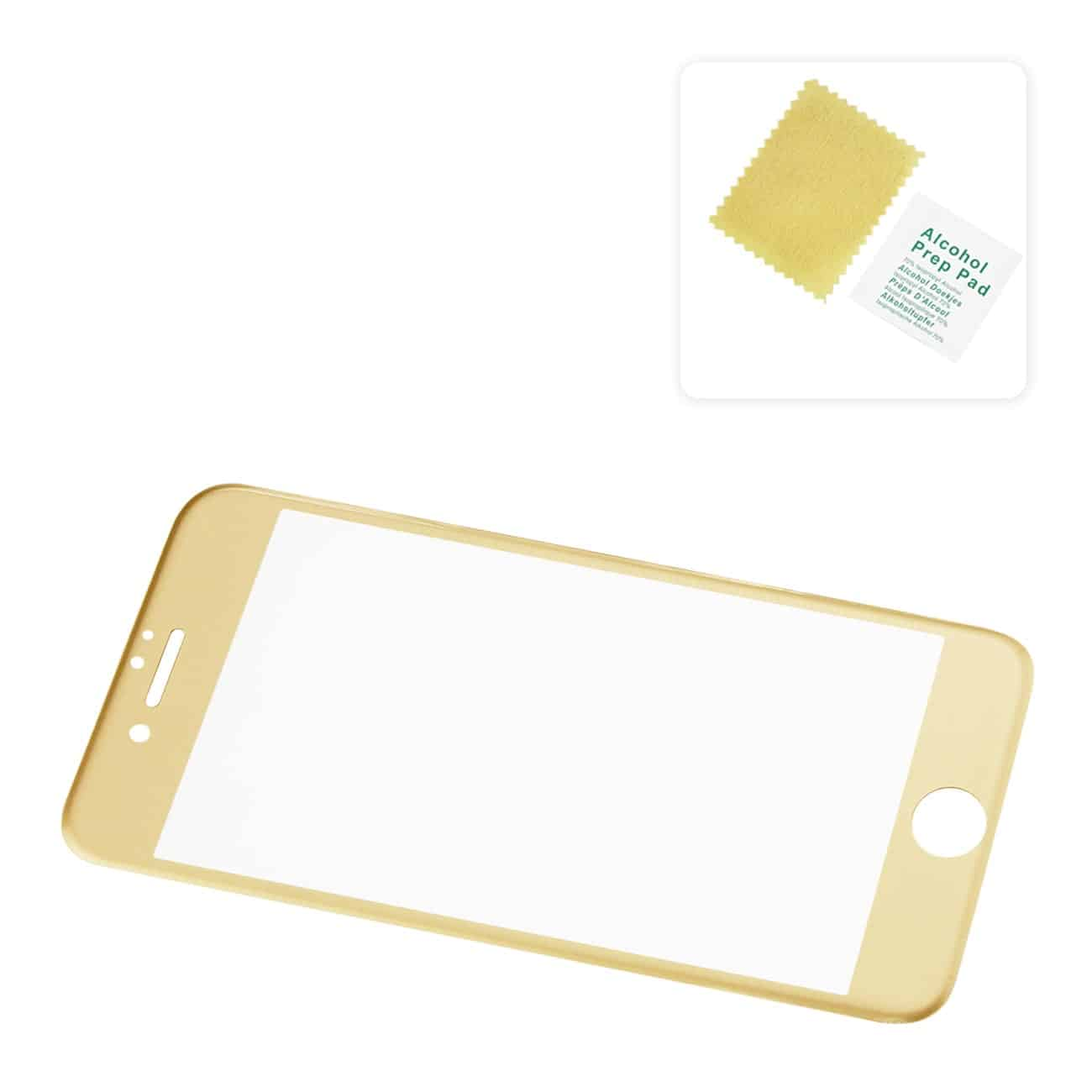 IPHONE 7 PLUS 3D CURVED FULL COVERAGE TEMPERED GLASS SCREEN PROTECTOR IN GOLD