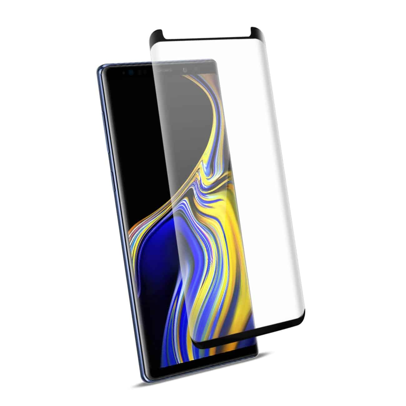 Samsung Galaxy Note 9 3D Curved Full Coverage Tempered Glass Screen Protector In Black