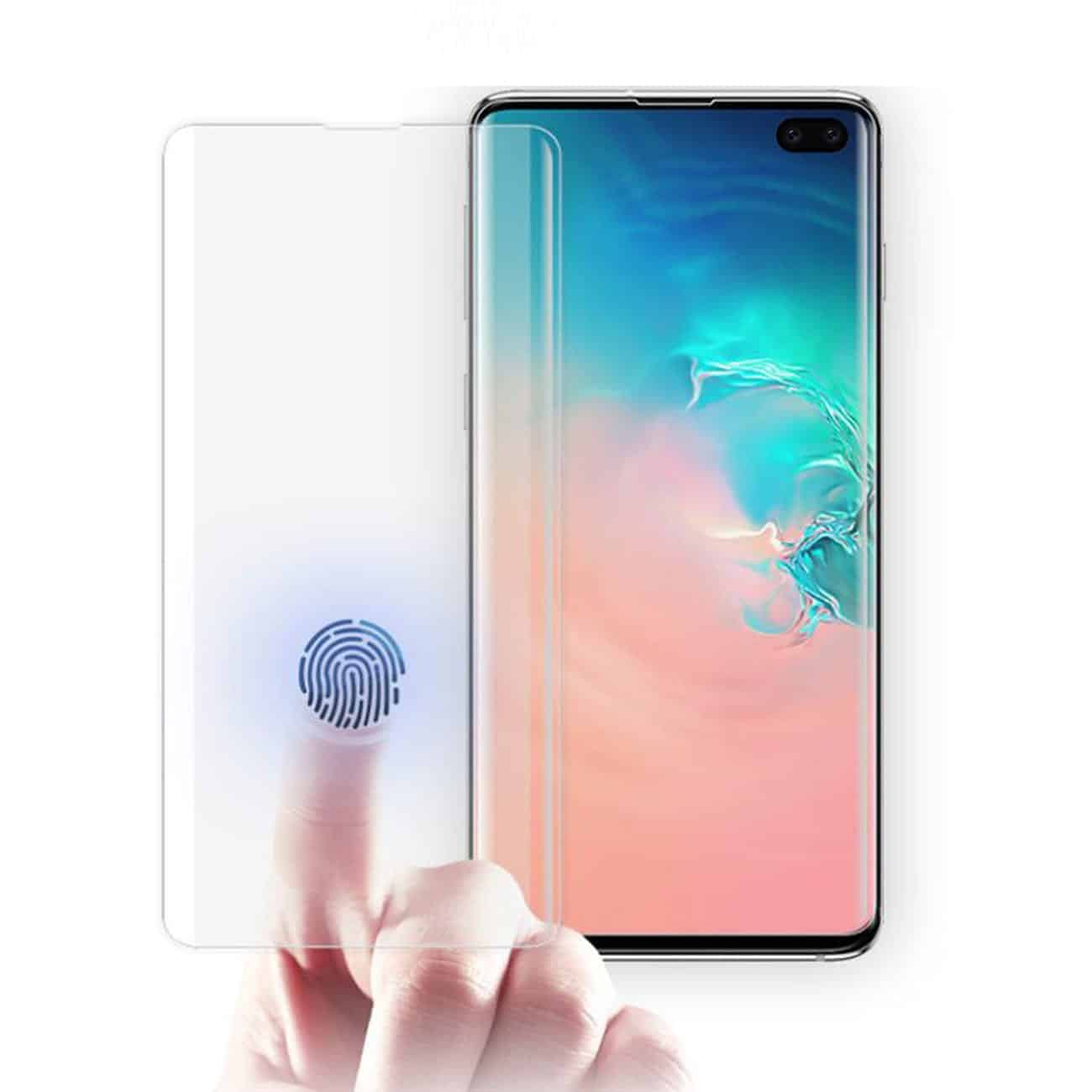 SAMSUNG GALAXY S10 Plus Clear Curved Tempered Glass Screen Protector