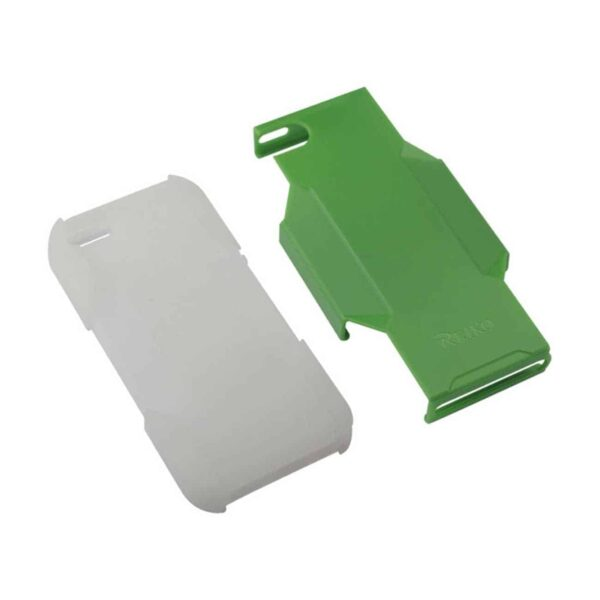 IPHONE SE/ 5S/ 5 HYBRID HEAVY DUTY HOLSTER COMBO CASE IN GREEN CLEAR