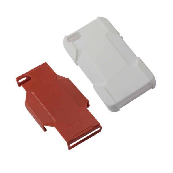 IPHONE SE/ 5S/ 5 HYBRID HEAVY DUTY HOLSTER COMBO CASE IN ORANGE WHITE