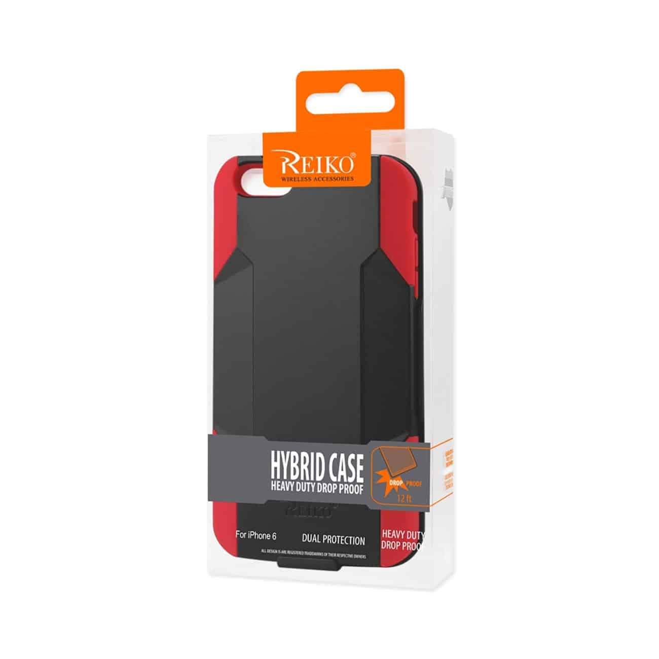 IPHONE 6 PLUS HYBRID HEAVY DUTY HOLSTER COMBO CASE IN RED BLACK