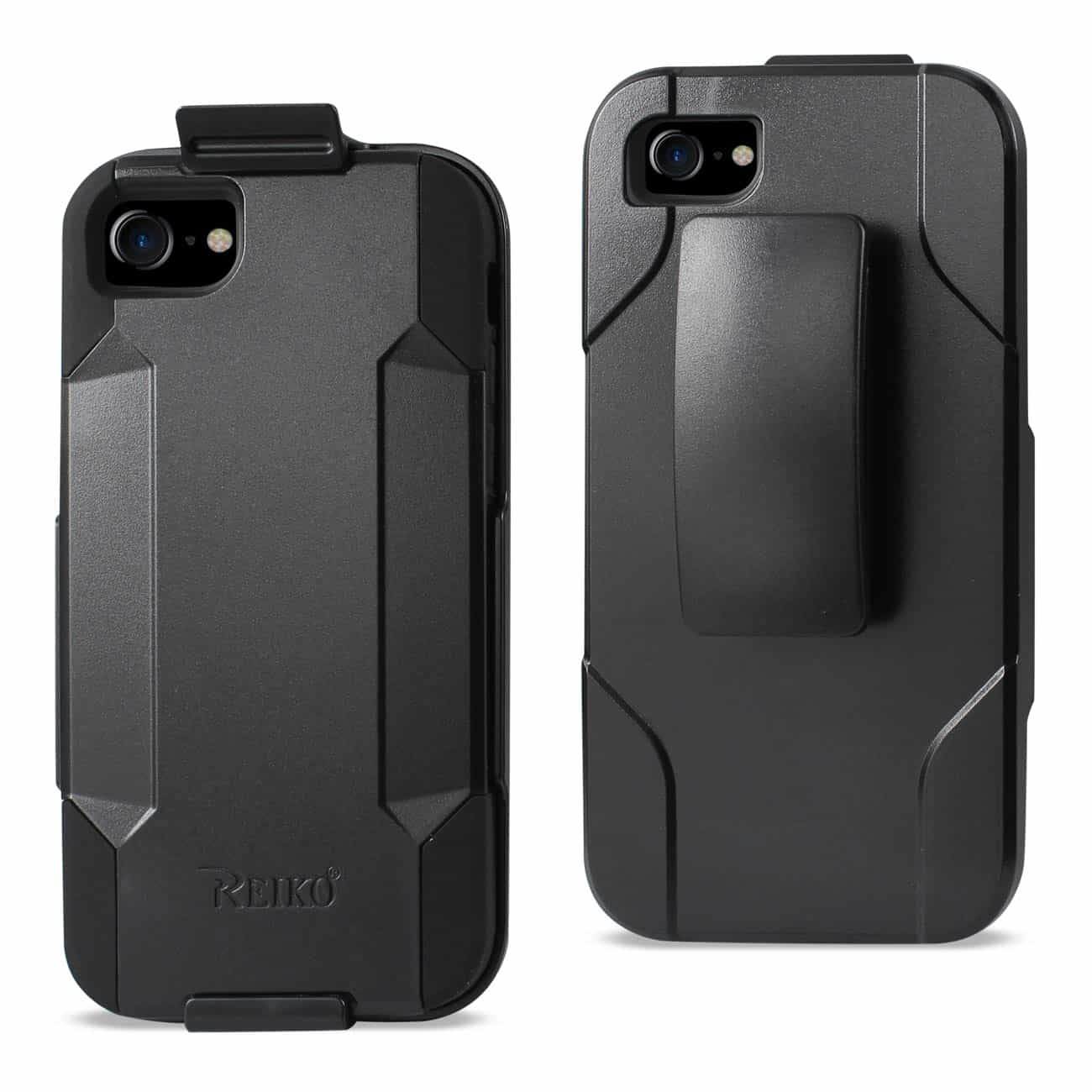 IPHONE 7 3-IN-1 HYBRID HEAVY DUTY HOLSTER COMBO CASE IN BLACK