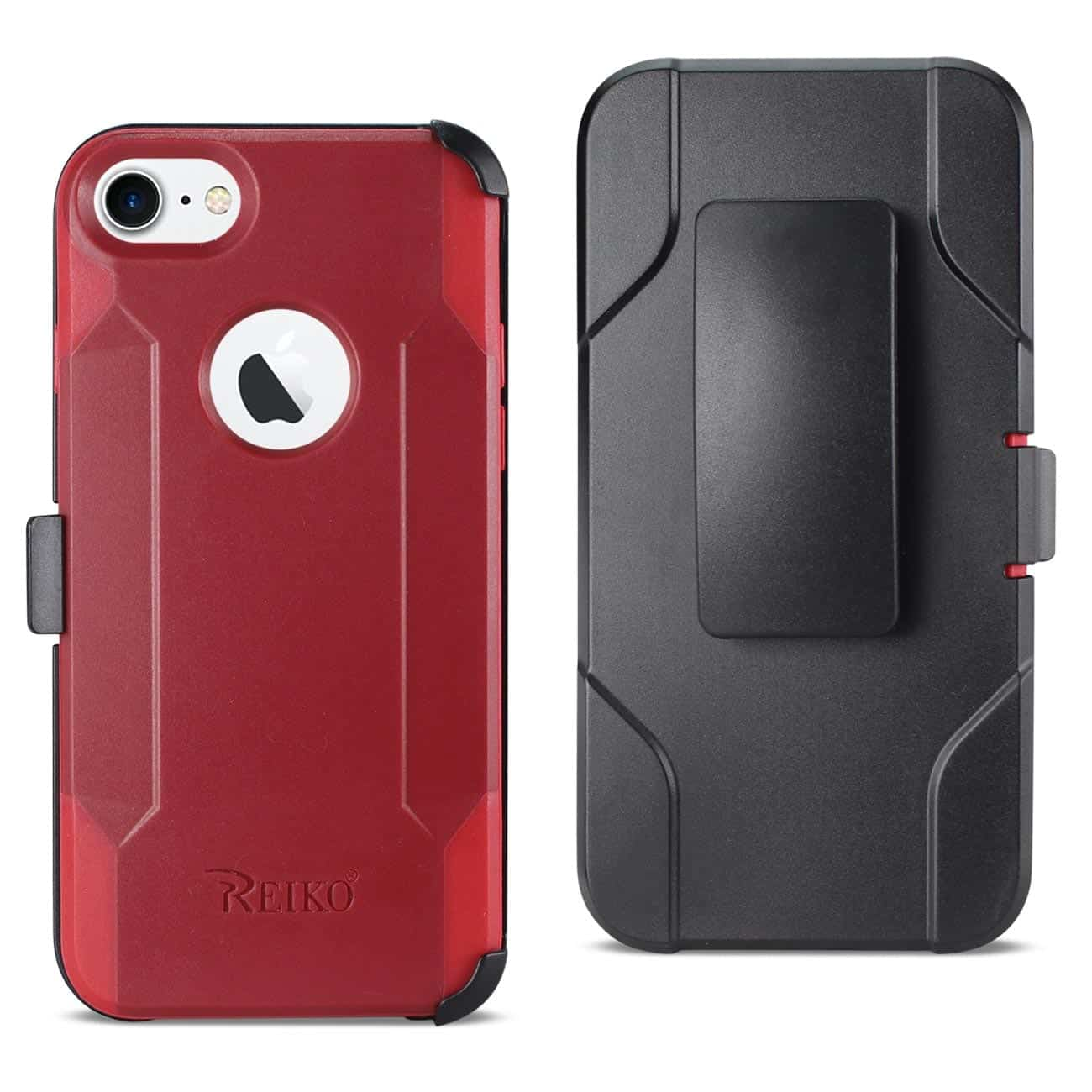 IPHONE 8 3-IN-1 HYBRID HEAVY DUTY HOLSTER COMBO CASE IN BURGUNDY