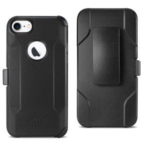 iPhone 8 3-In-1 Hybrid Heavy Duty Holster Combo Case In Black