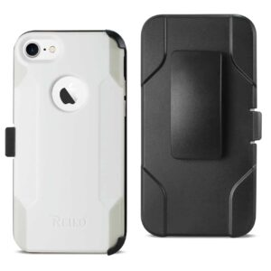 IPHONE 8 3-IN-1 HYBRID HEAVY DUTY HOLSTER COMBO CASE IN IVORY