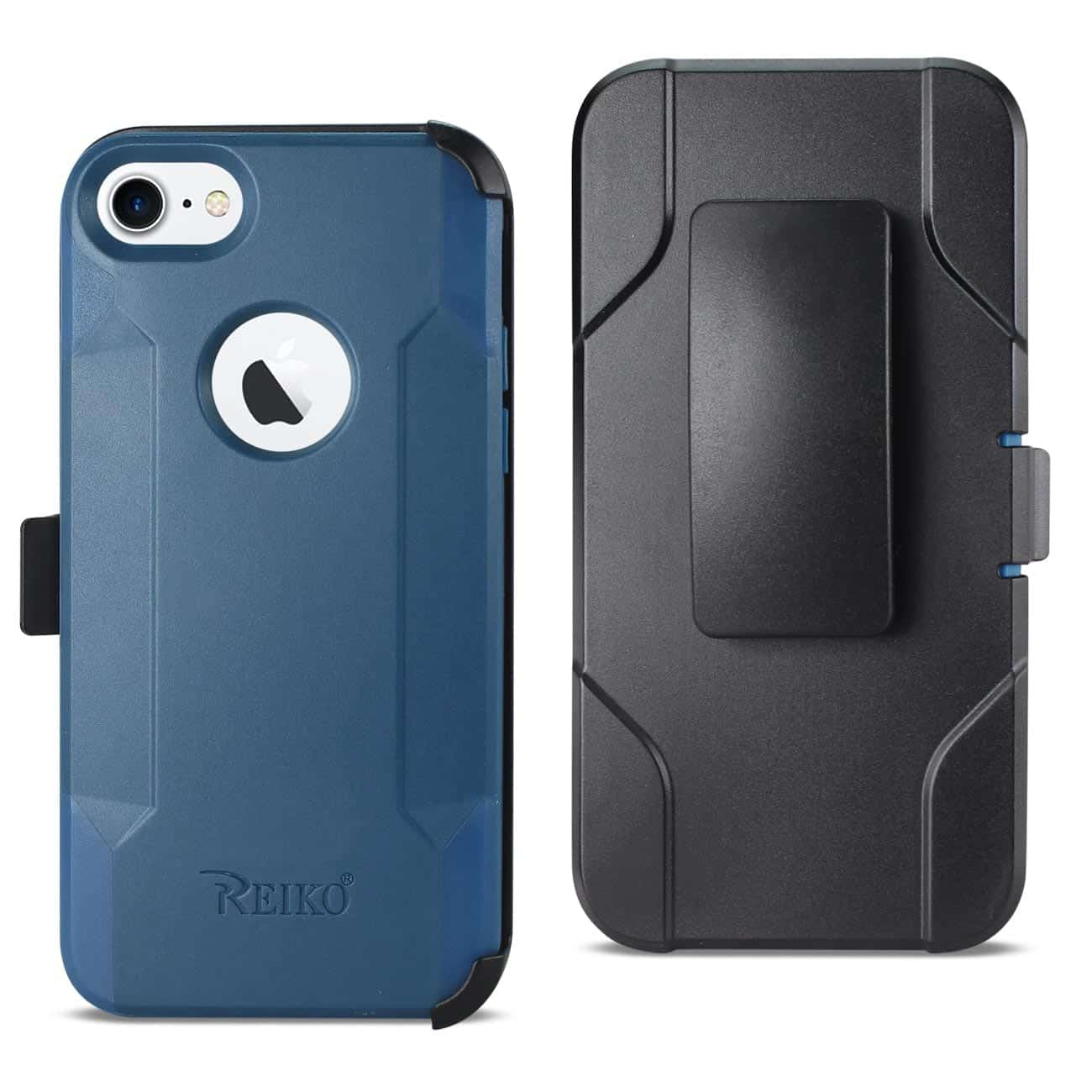 IPHONE 8 3-IN-1 HYBRID HEAVY DUTY HOLSTER COMBO CASE IN NAVY