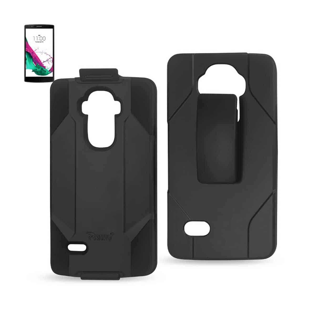 LG G4 HYBRID HEAVY DUTY HOLSTER COMBO CASE IN BLACK