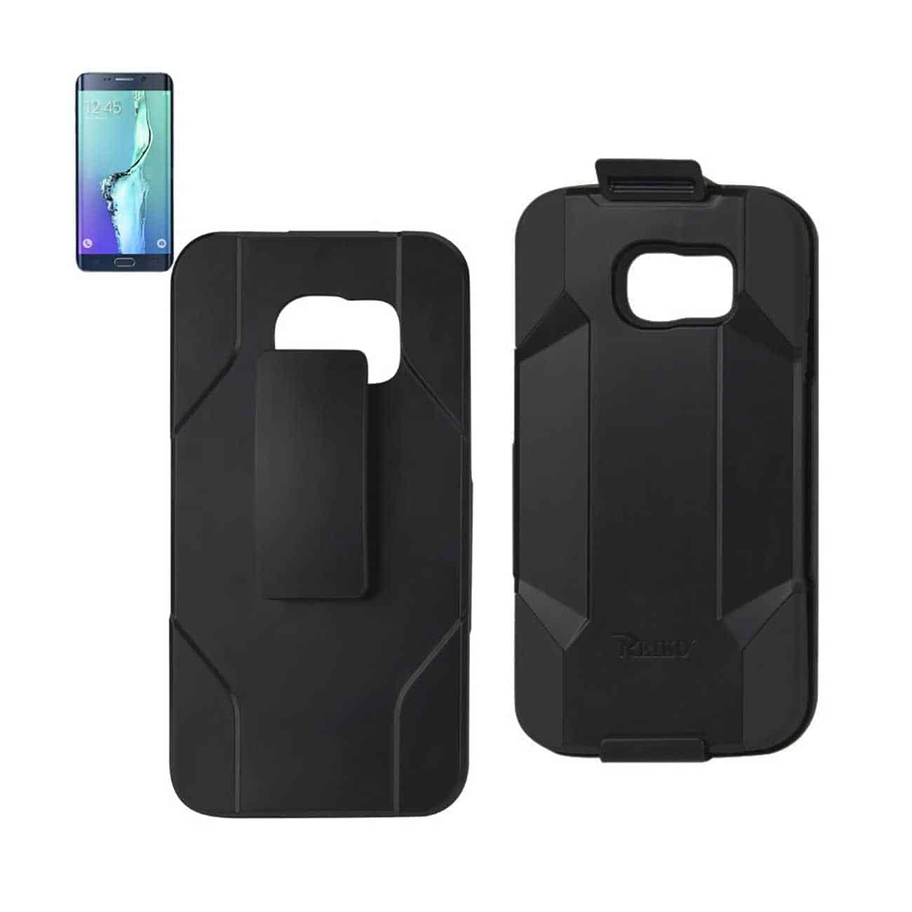 SAMSUNG GALAXY S6 EDGE PLUS HYBRID HEAVY DUTY HOLSTER COMBO CASE IN BLACK