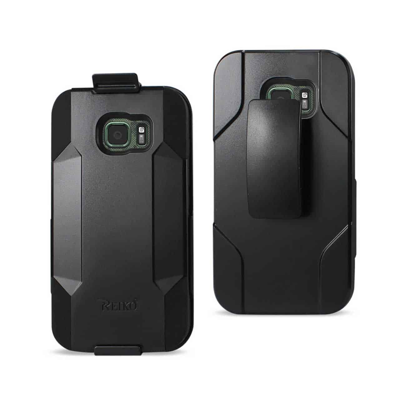 SAMSUNG GALAXY S7 ACTIVE HYBRID HEAVY DUTY HOLSTER COMBO CASE IN BLACK