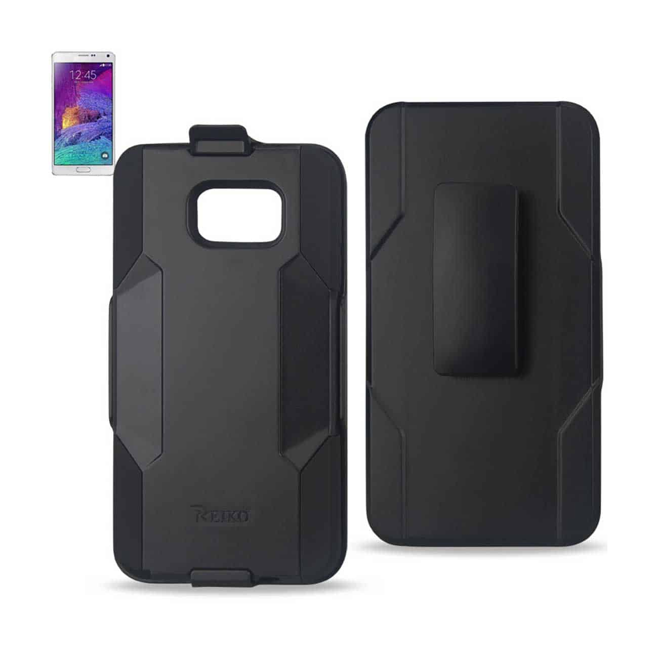 SAMSUNG GALAXY NOTE 5 3-IN-1 HYBRID HEAVY DUTY HOLSTER COMBO CASE IN BLACK