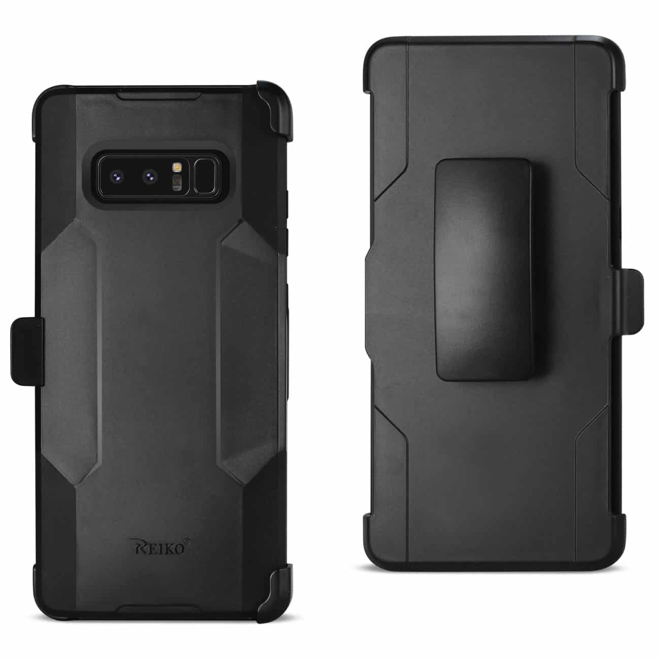 SAMSUNG NOTE 8 3-IN-1 HYBRID HEAVY DUTY HOLSTER COMBO CASE IN BLACK