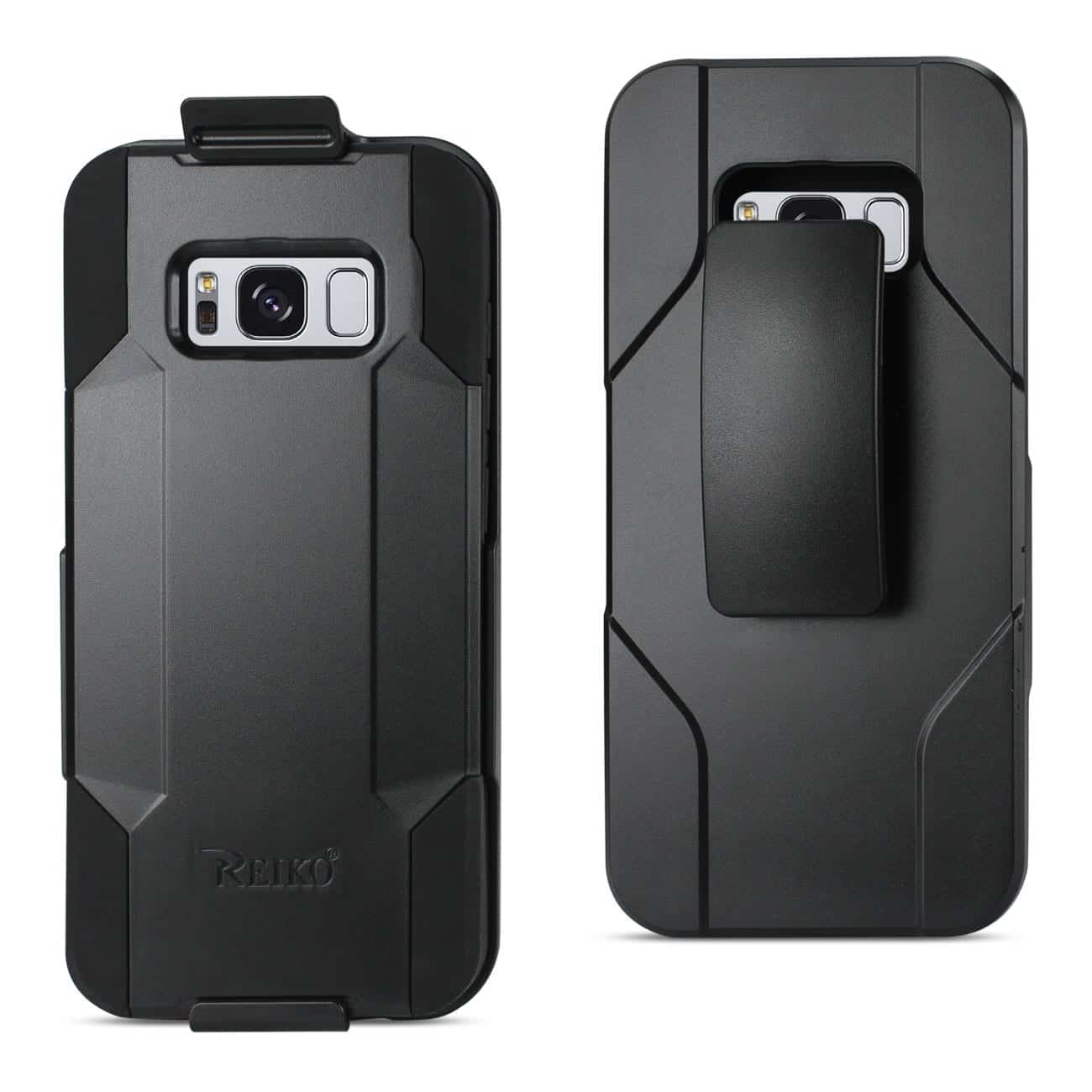 SAMSUNG GALAXY S8 3-IN-1 HYBRID HEAVY DUTY HOLSTER COMBO CASE IN BLACK