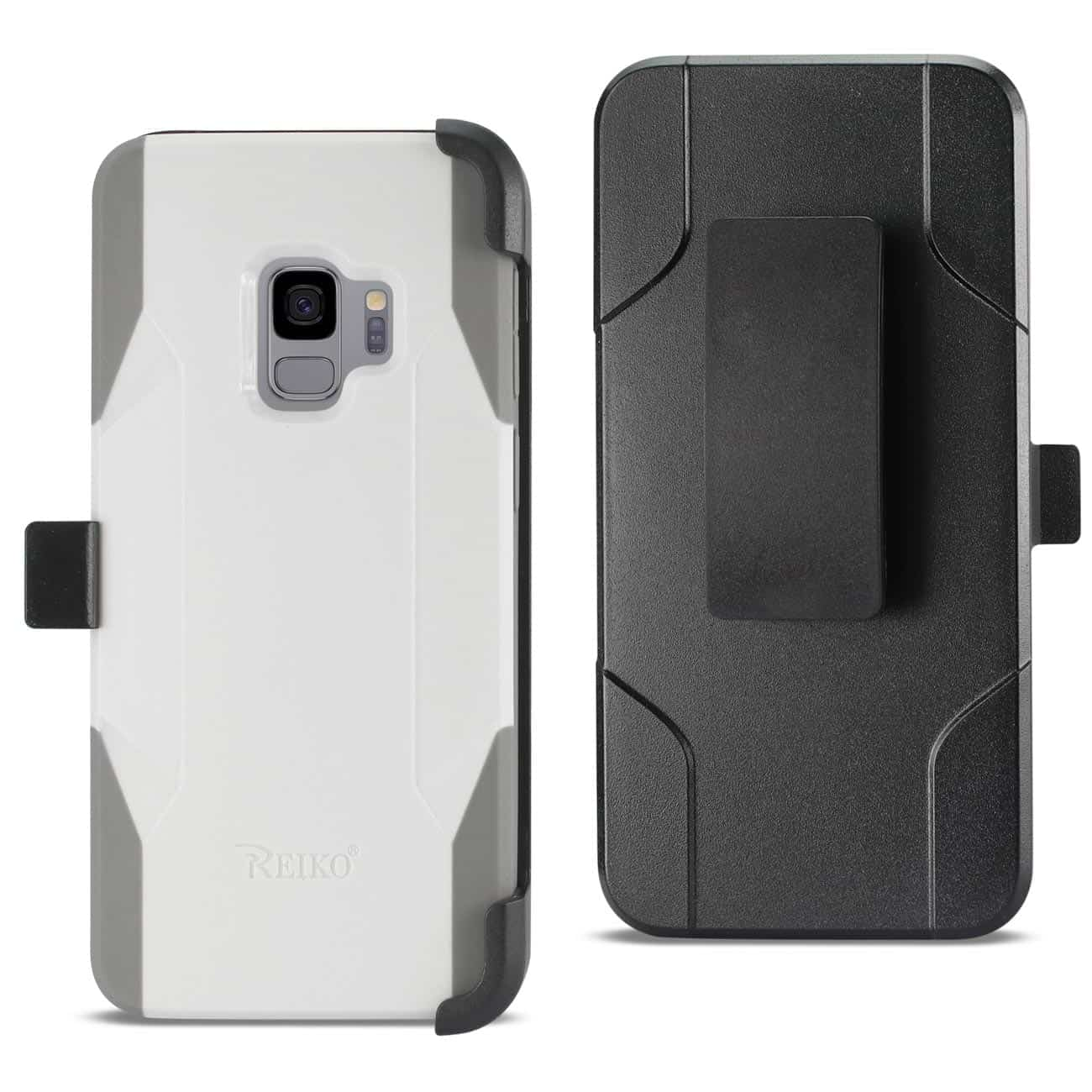 Samsung Galaxy S9 3-In-1 Hybrid Heavy Duty Holster Combo Case In White