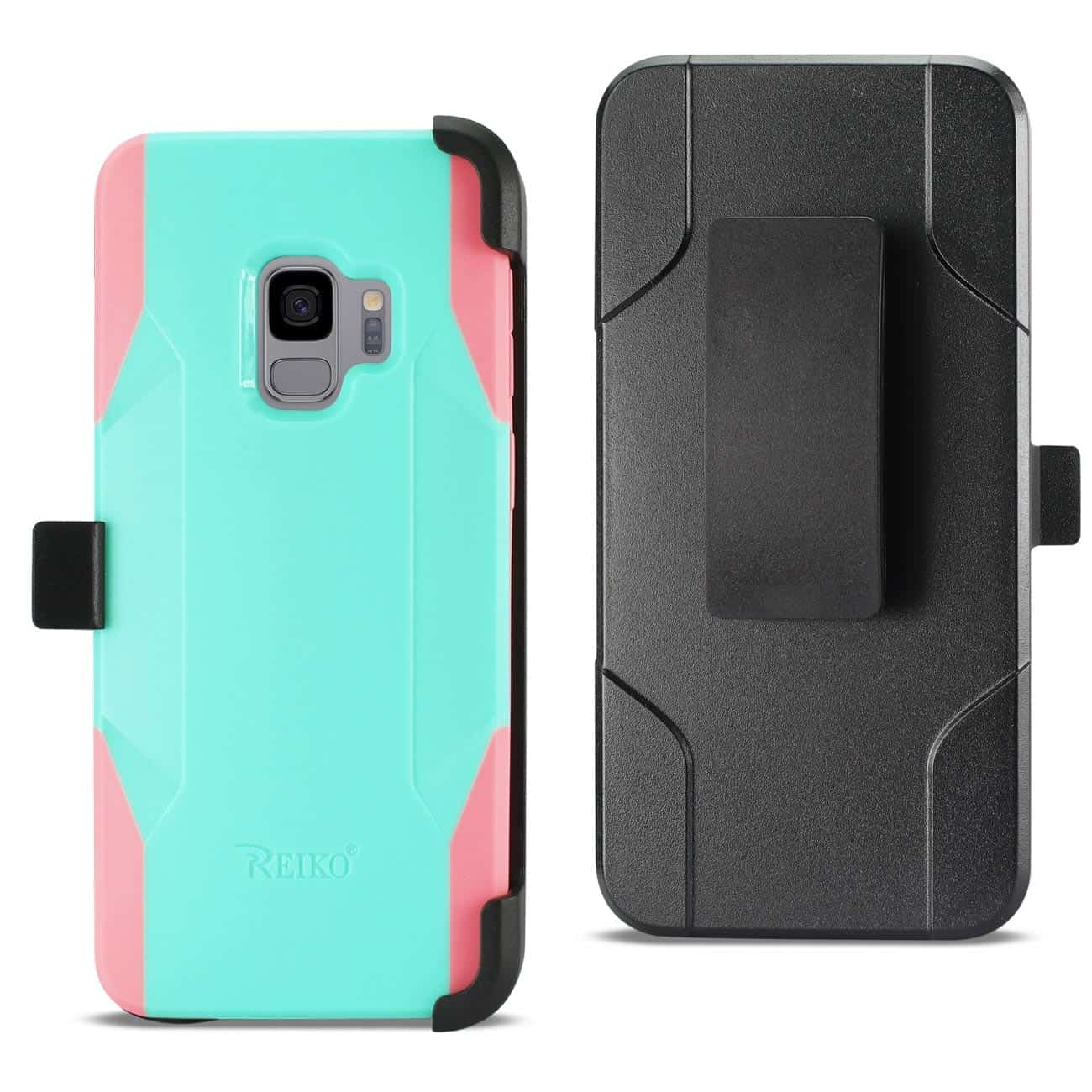 Samsung Galaxy S9 3-In-1 Hybrid Heavy Duty Holster Combo Case In Mint Green