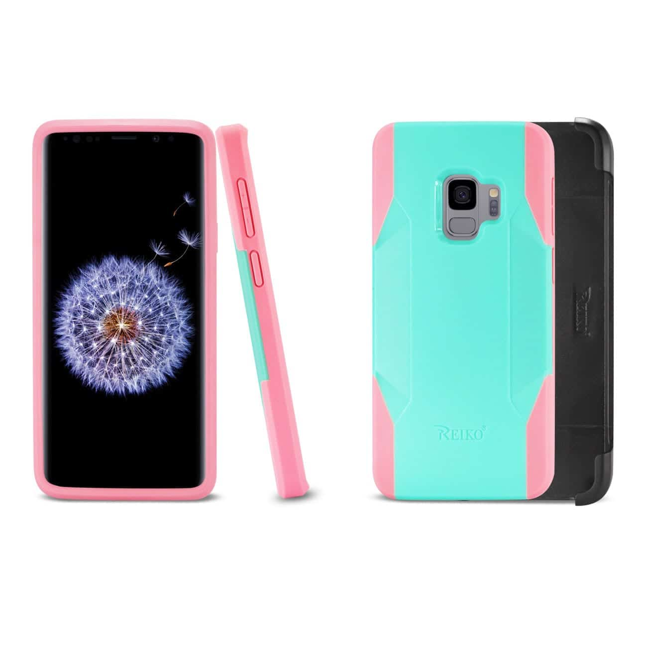 Samsung Galaxy S9 3-In-1 Hybrid Heavy Duty Holster Combo Case In Mint Green