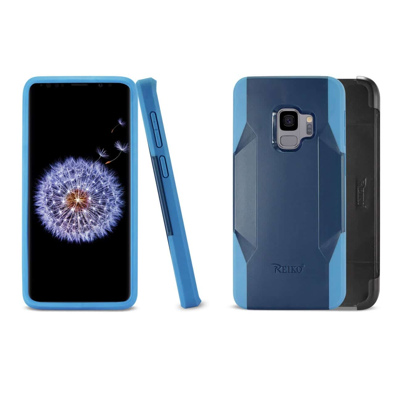 Samsung Galaxy S9 3-In-1 Hybrid Heavy Duty Holster Combo Case In Navy