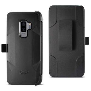 Samsung Galaxy S9 Plus 3-In-1 Hybrid Heavy Duty Holster Combo Case In Black