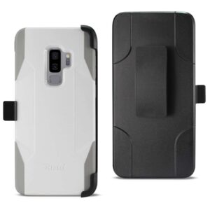Samsung Galaxy S9 Plus 3-In-1 Hybrid Heavy Duty Holster Combo Case In Ivory