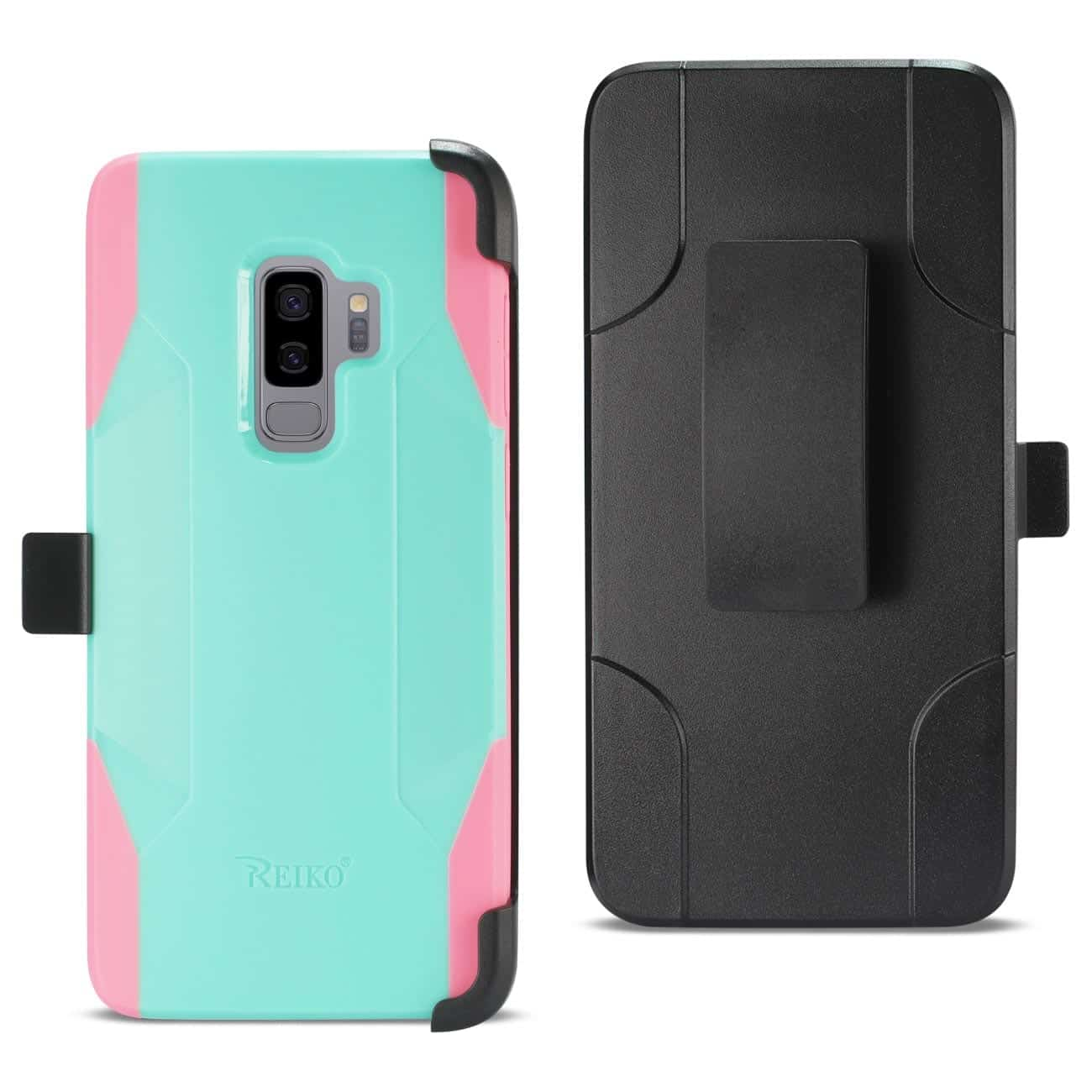 Samsung Galaxy S9 Plus 3-In-1 Hybrid Heavy Duty Holster Combo Case In Mint Green