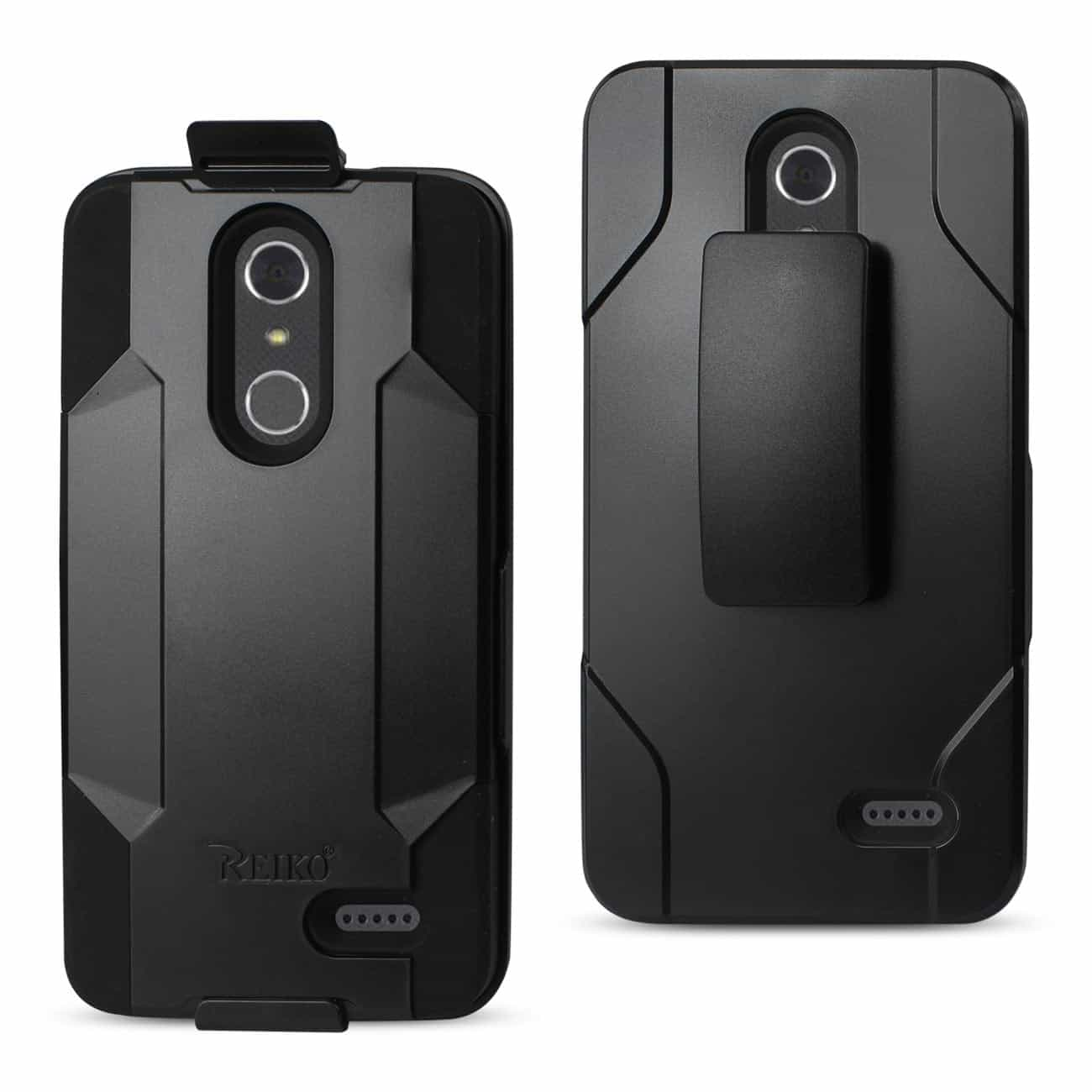 ZTE GRAND X4 3-IN-1 HYBRID HEAVY DUTY HOLSTER COMBO CASE IN BLACK