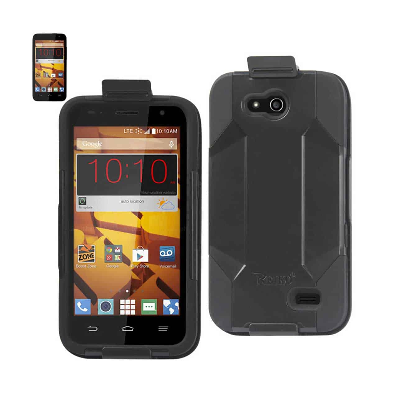 ZTE SPEED HYBRID HEAVY DUTY HOLSTER COMBO CASE IN BLACK