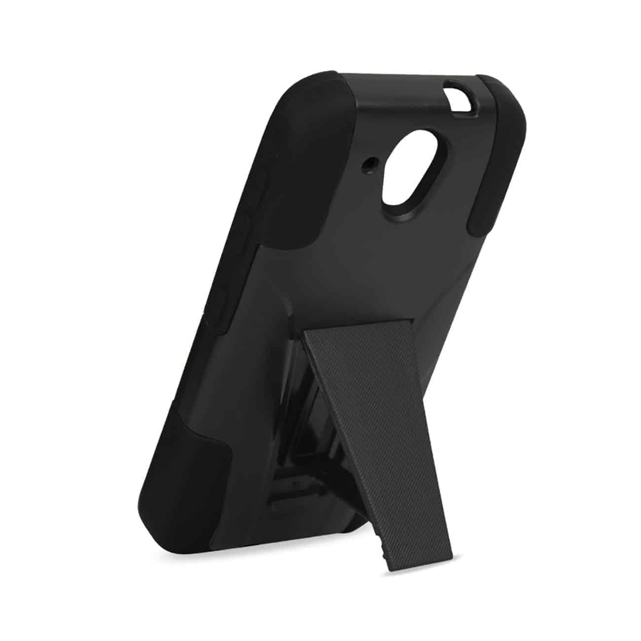 HTC DESIRE 520 HYBRID HEAVY DUTY CASE WITH KICKSTAND IN BLACK