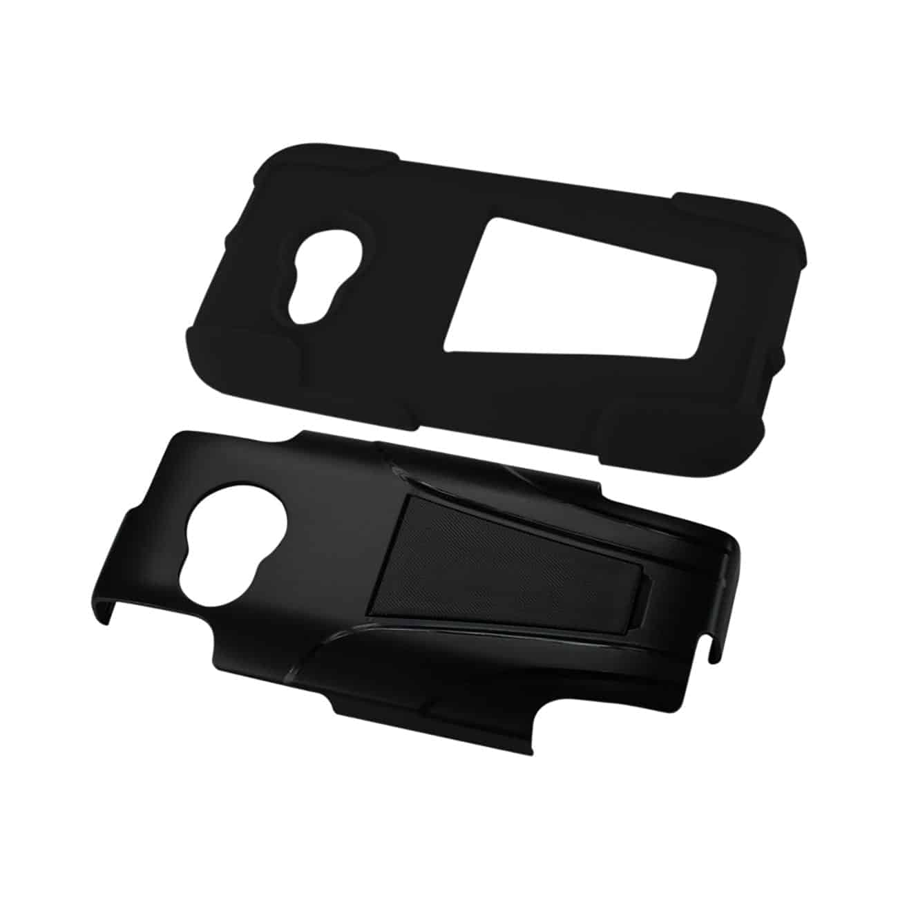HTC ONE MINI 2 HYBRID HEAVY DUTY CASE WITH KICKSTAND IN BLACK
