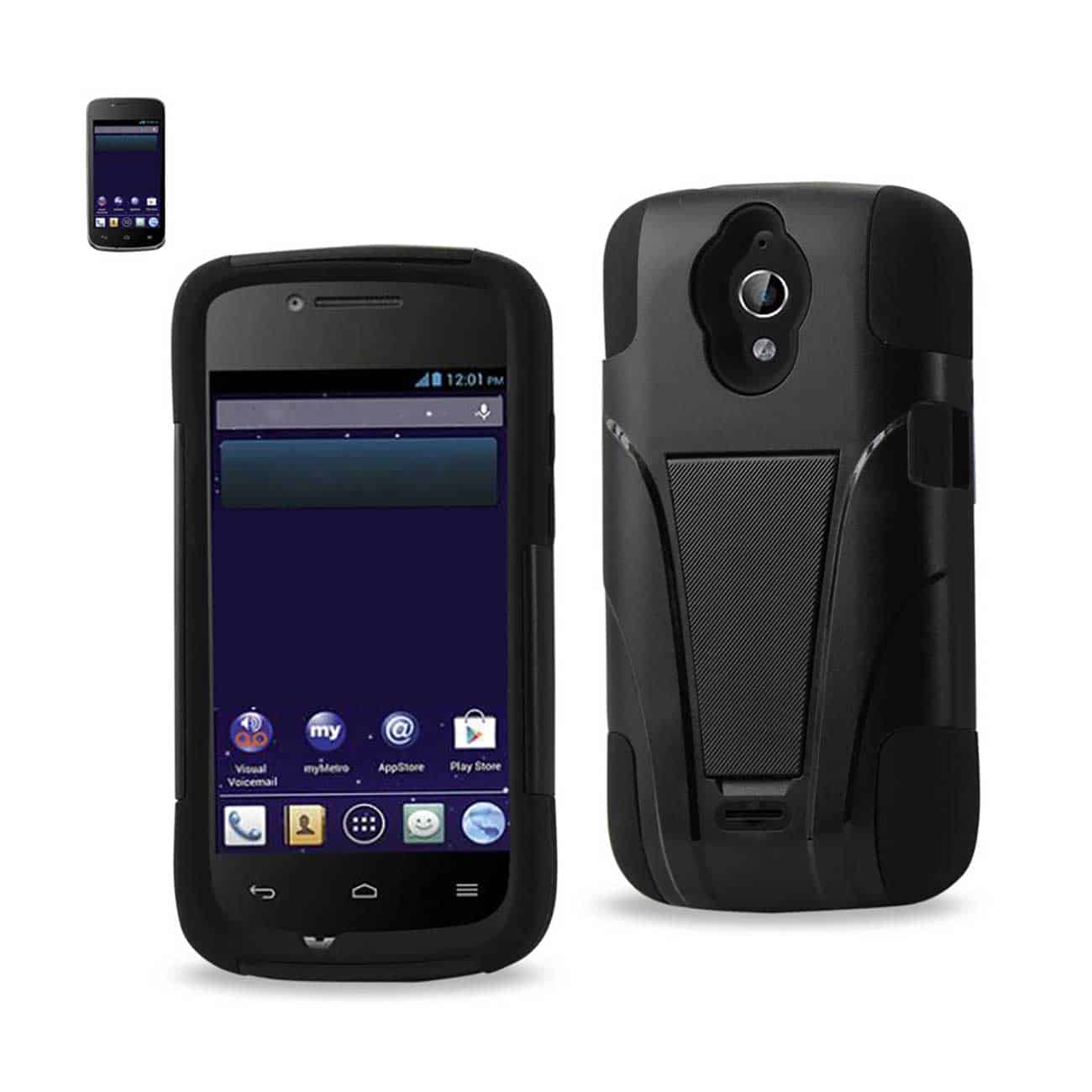 HUAWEI VITRIA HYBRID HEAVY DUTY CASE WITH KICKSTAND IN BLACK