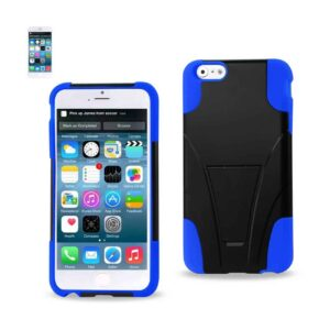 IPHONE 6 PLUS HYBRID HEAVY DUTY CASE WITH KICKSTAND IN NAVY BLACK