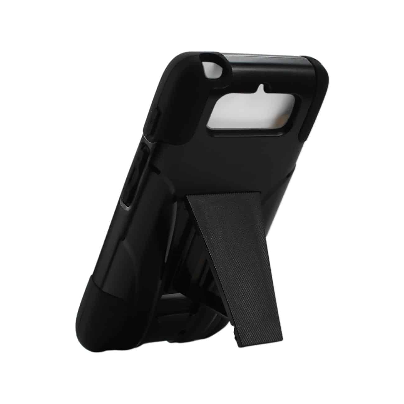 MOTOROLA DROID MINI HYBRID HEAVY DUTY CASE WITH KICKSTAND IN BLACK