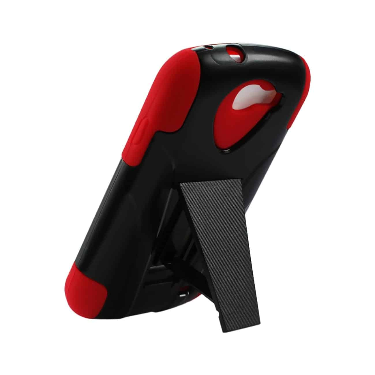 SAMSUNG GALAXY EXPRESS HYBRID HEAVY DUTY CASE WITH KICKSTAND IN RED BLACK