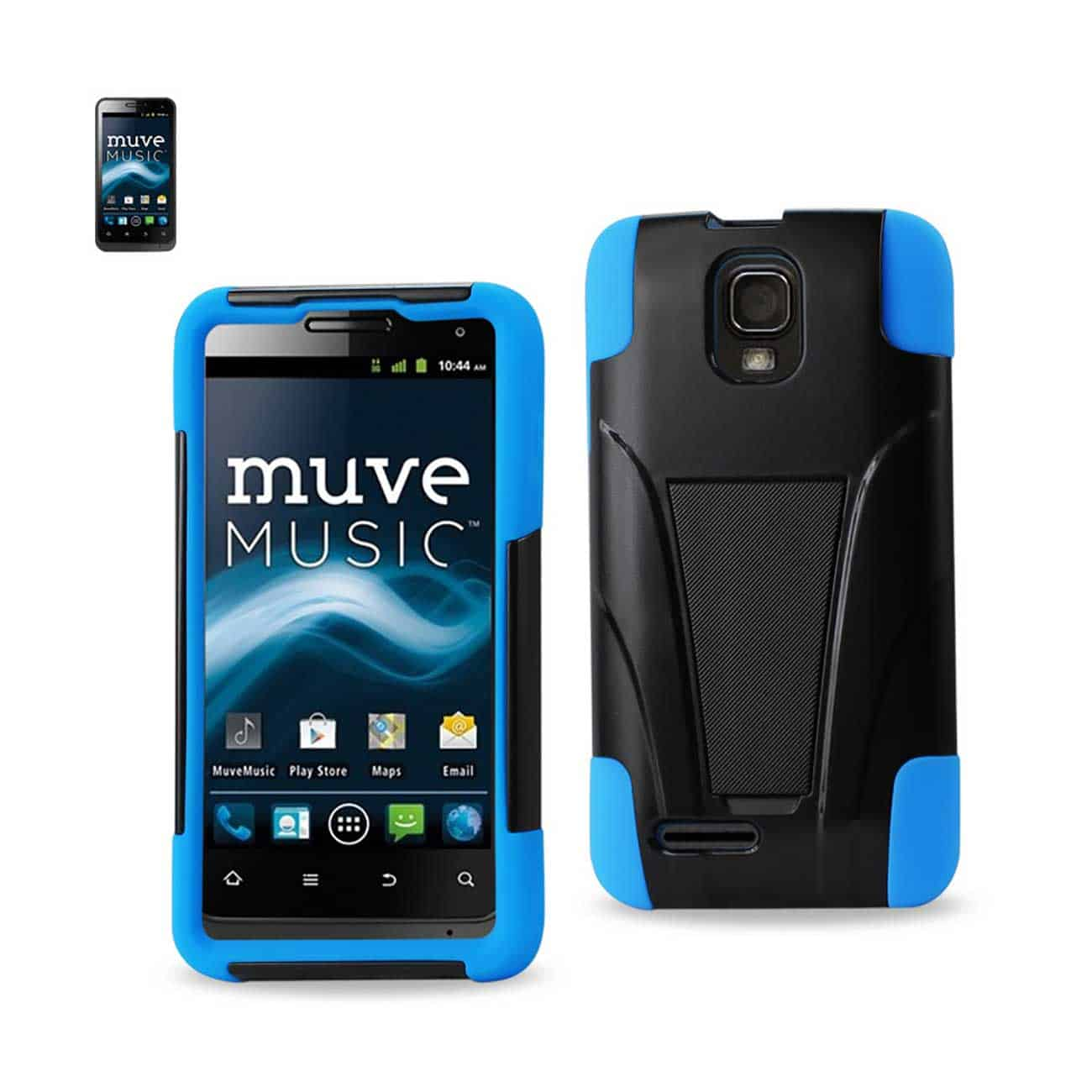 ZTE ENGAGE MT HYBRID HEAVY DUTY CASE WITH KICKSTAND IN NAVY BLACK