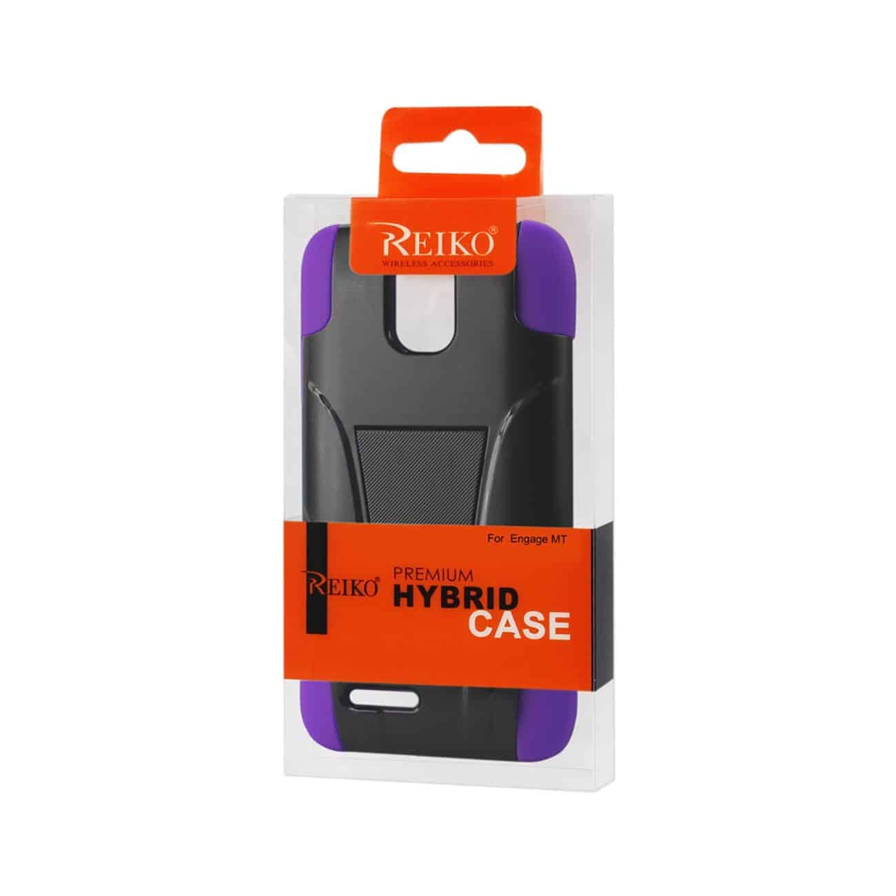 ZTE ENGAGE MT HYBRID HEAVY DUTY CASE WITH KICKSTAND IN PURPLE BLACK