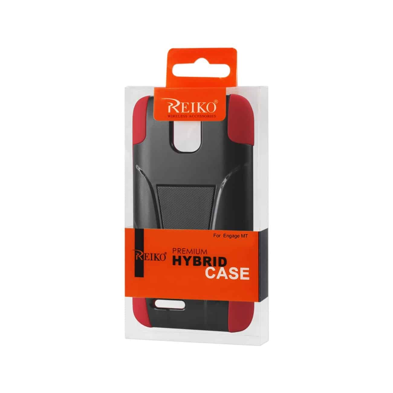 ZTE ENGAGE MT HYBRID HEAVY DUTY CASE WITH KICKSTAND IN RED BLACK