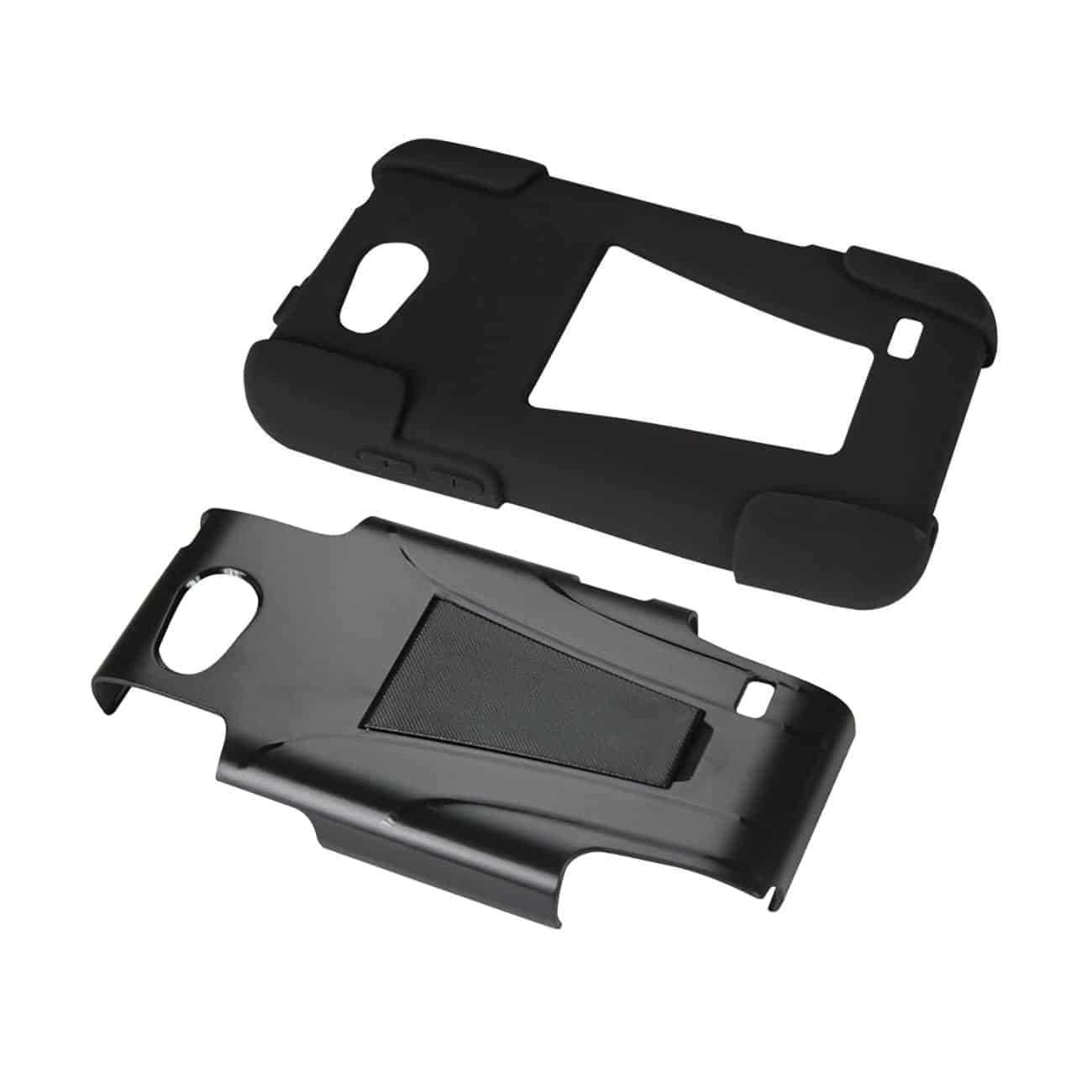 ZTE SPEED HYBRID HEAVY DUTY CASE WITH KICKSTAND IN BLACK