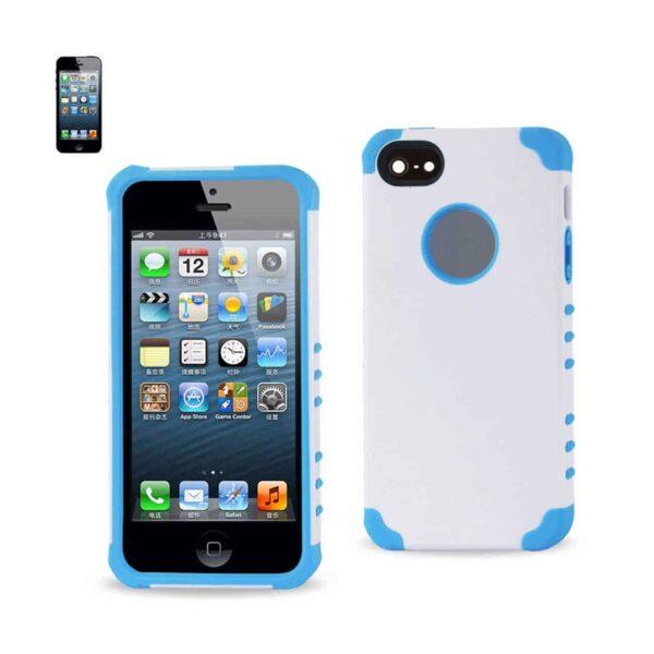 IPHONE 5/5S/SE HYBRID HEAVY DUTY CASE IN BLUE