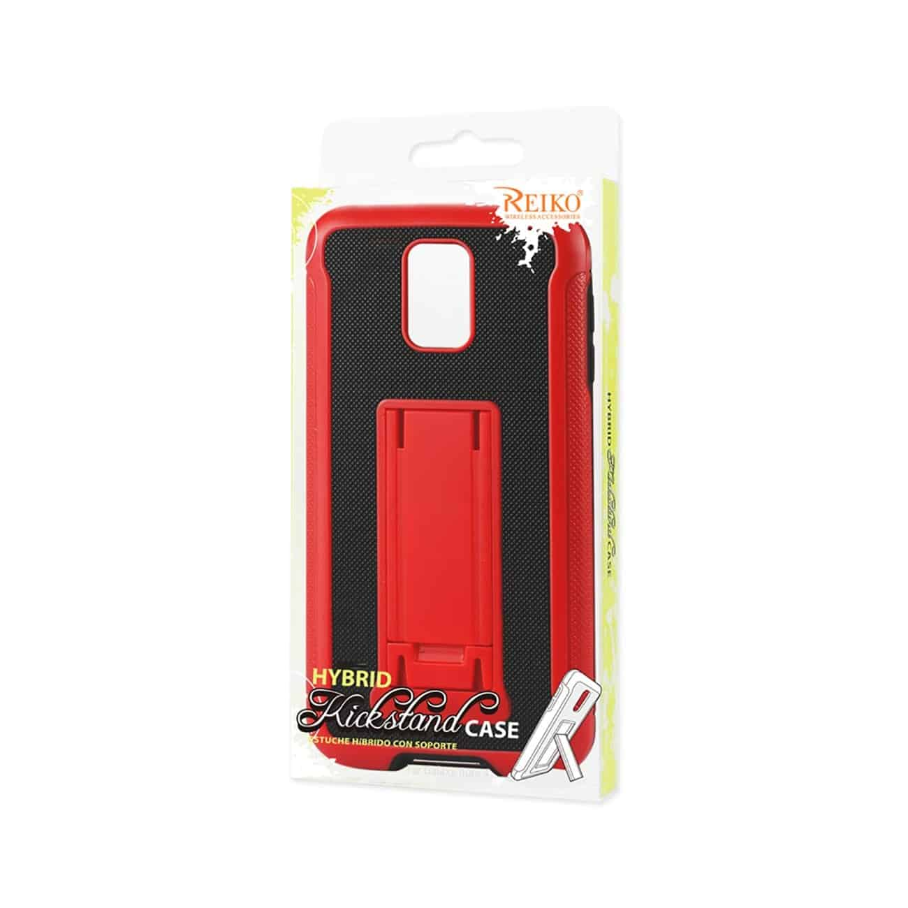 SAMSUNG GALAXY NOTE 4 HYBRID HEAVY DUTY CASE WITH VERTICAL KICKSTAND IN BLACK RED