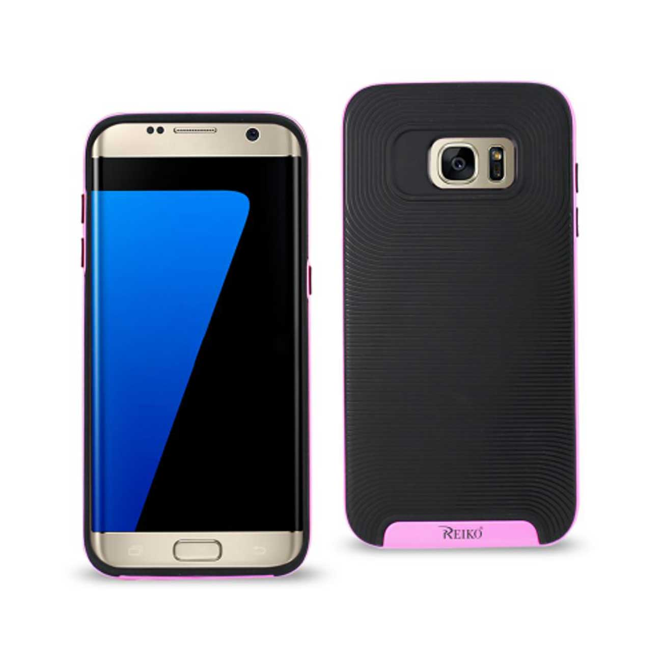 SAMSUNG GALAXY S7 SLIM ARMOR CASE WITH BUMPER FRAMES IN BLACK PINK