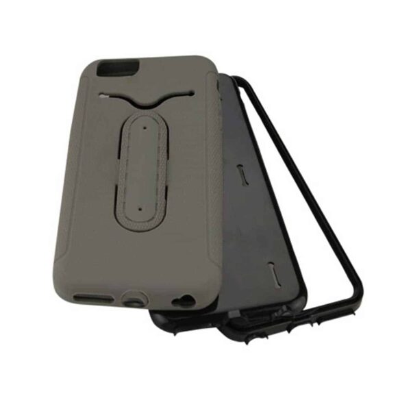 IPHONE 6 PLUS HYBRID HEAVY DUTY CASE WITH BENDING KICKSTAND IN GRAY