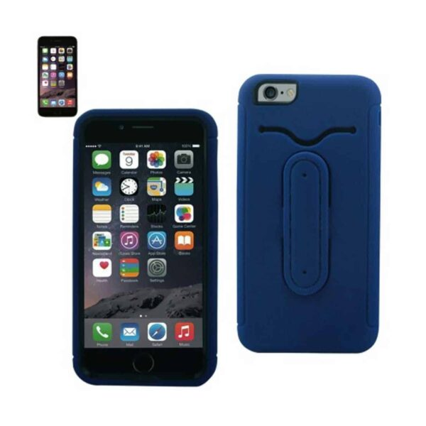 IPHONE 6 PLUS HYBRID HEAVY DUTY CASE WITH BENDING KICKSTAND IN NAVY