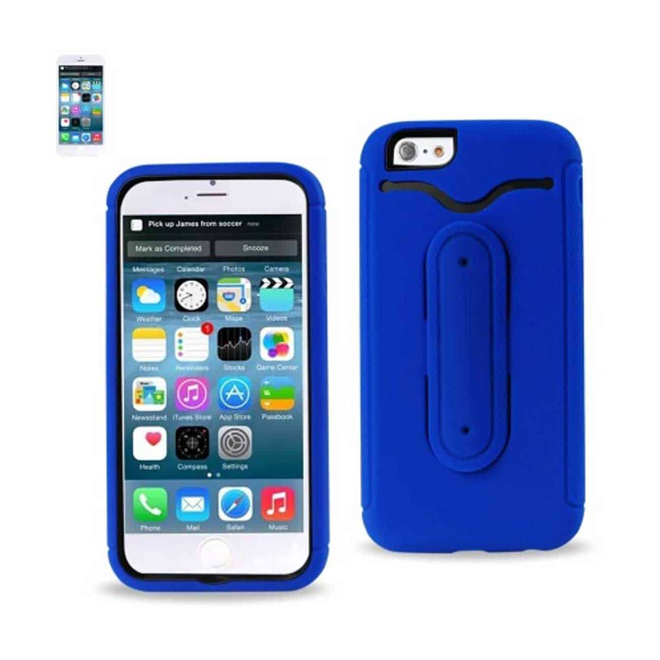 IPHONE 6 HYBRID HEAVY DUTY CASE WITH BENDING KICKSTAND IN NAVY