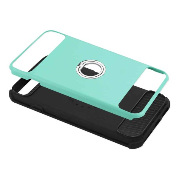 IPHONE 7/ 6/ 6S HYBRID CASE WITH 360 DEGREE ROTATING RING STAND HOLDER IN GREEN