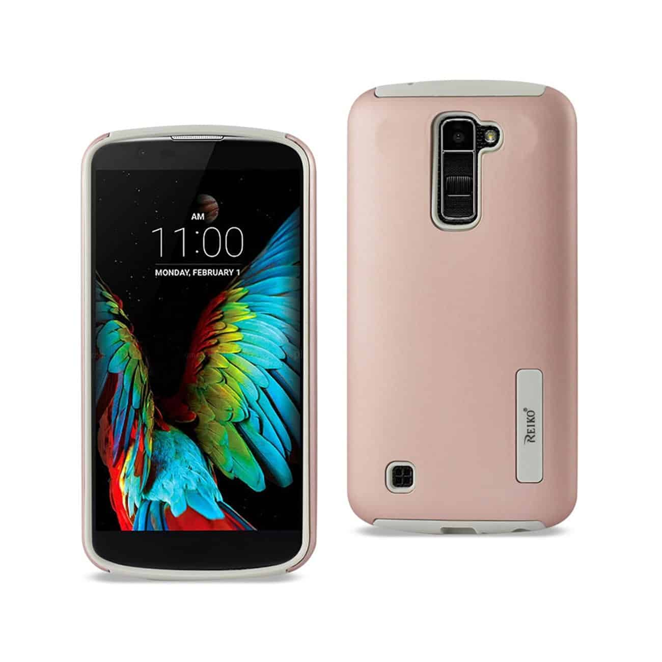 LG K10 SOLID ARMOR DUAL LAYER PROTECTIVE CASE IN ROSE GOLD