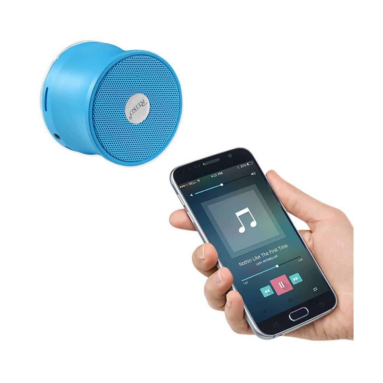 UNIVERSAL MINI BLUETOOTH SPEAKER IN BLUE