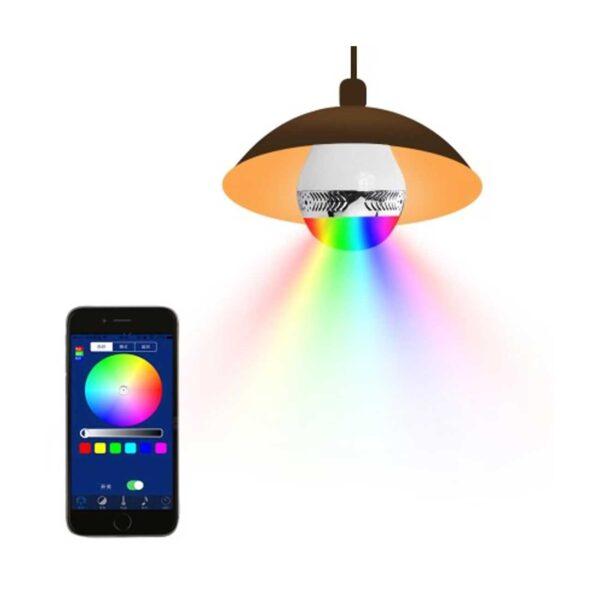 UNIVERSAL LIGHT BULB BLUETOOTH SPECTRUM LED LIGHT SPEAKER IN WHITE